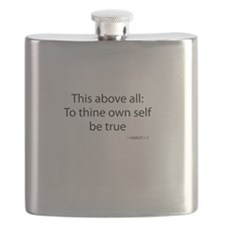 To Thine Own Self Be True Flask