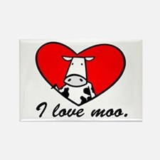 I Love Moo Rectangle Magnet
