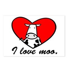 I Love Moo Postcards (Package of 8)