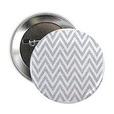 """Silver Glitter Chevron 2.25"""" Button"""