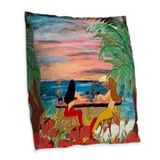 Tiki pillow Throw Pillows