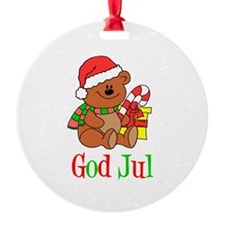 God Jul Swedish Ornament