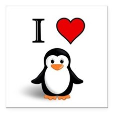 "PENGUIN Square Car Magnet 3"" x 3"""
