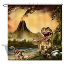 Predator Dinosaurs Shower Curtain