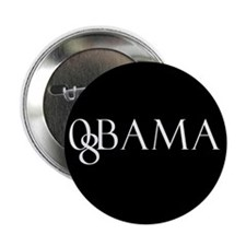 "Obama (black design 2) 2.25"" Button (10 pack)"