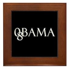 Obama (black design 2) Framed Tile