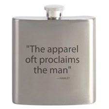 Apparel oft proclaims the man Flask