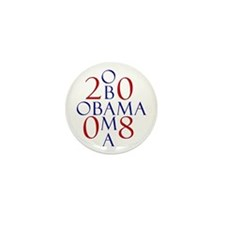 Obama (design 3) Mini Button