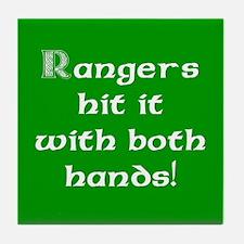 Rangers hit it... Tile Coaster