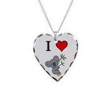 KOALA BEAR Necklace Heart Charm
