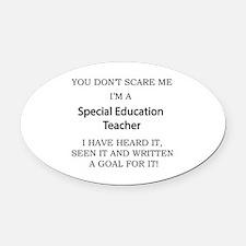 Cool Teacher Oval Car Magnet