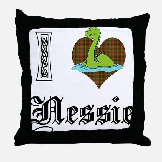 I [HEART] NESSIE Throw Pillow