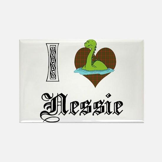 I [HEART] NESSIE Rectangle Magnet