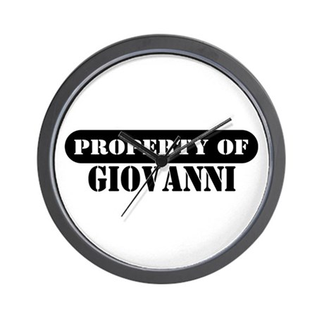 Property of Giovanni Wall Clock