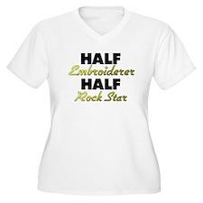 Half Embroiderer Half Rock Star Plus Size T-Shirt