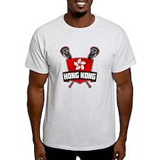 Hong Kong Lacrosse Flag Logo T-Shirt