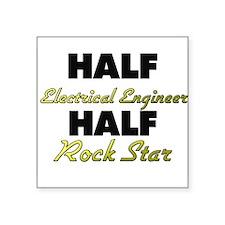 Half Electrical Engineer Half Rock Star Sticker