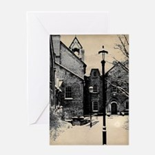 vintage historical montreal building Greeting Card