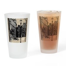 vintage historical montreal buildin Drinking Glass