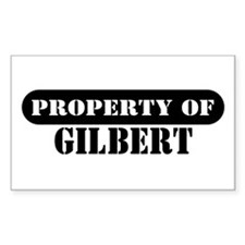 Property of Gilbert Rectangle Decal