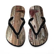 western cowboy boots barnwood country Flip Flops
