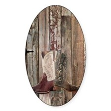 western cowboy boots barnwood count Decal