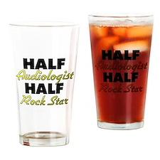 Half Audiologist Half Rock Star Drinking Glass