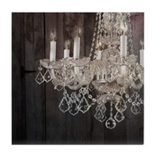 barnwood chandelier country fashion Tile Coaster