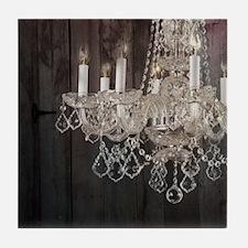 barnwood chandelier country fashion Tile Coaster