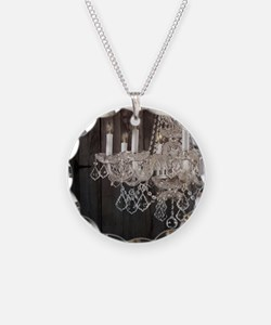 barnwood chandelier country  Necklace