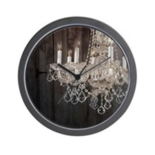 barnwood chandelier country fashion Wall Clock