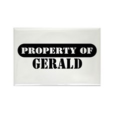 Property of Gerald Rectangle Magnet