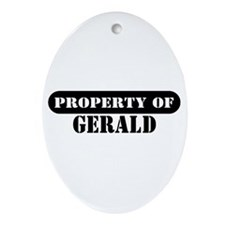 Property of Gerald Oval Ornament