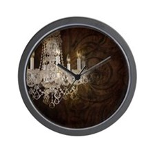 leather chandelier country fashion Wall Clock