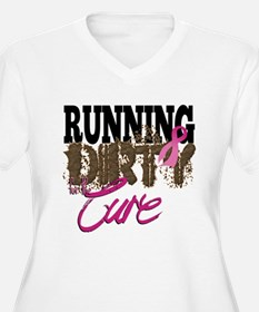 Running Dirty For The Cure Plus Size T-Shirt