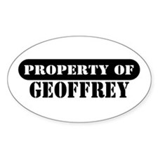 Property of Geoffrey Oval Decal
