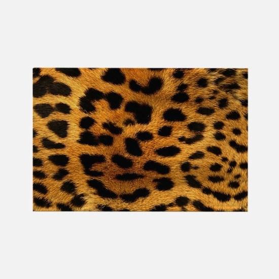 hot leopard print fashion Rectangle Magnet