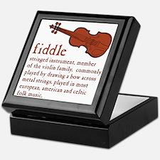 Fiddle Definition T-Shirt Keepsake Box