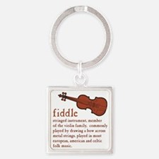 Fiddle Definition T-Shirt Square Keychain