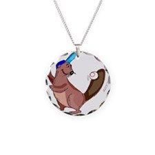 Beaver Baseball Necklace
