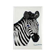 Zebra Lt Rectangle Magnet