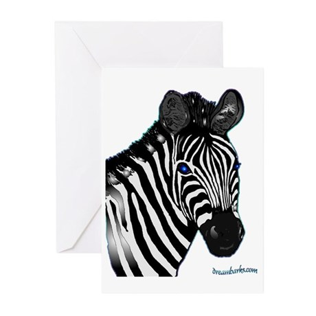 Zebra Lt Greeting Cards (Pk of 10)