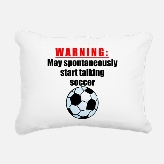 Spontaneous Soccer Talk Rectangular Canvas Pillow