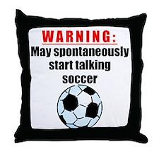 Spontaneous Soccer Talk Throw Pillow