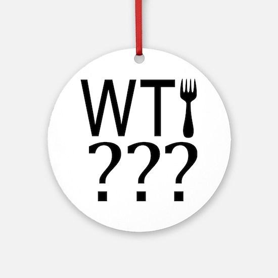 WTFork? Ornament (Round)