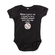 Softball Player Like My Aunt Baby Bodysuit