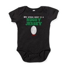 My Other Shirt Is A Rugby Jersey Baby Bodysuit
