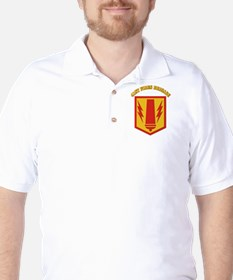 SSI - 41st Fires Brigade with Text Golf Shirt