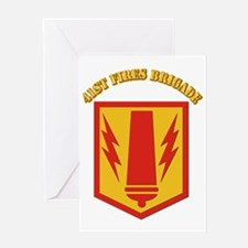 SSI - 41st Fires Brigade with Text Greeting Card