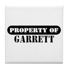 Property of Garrett Tile Coaster